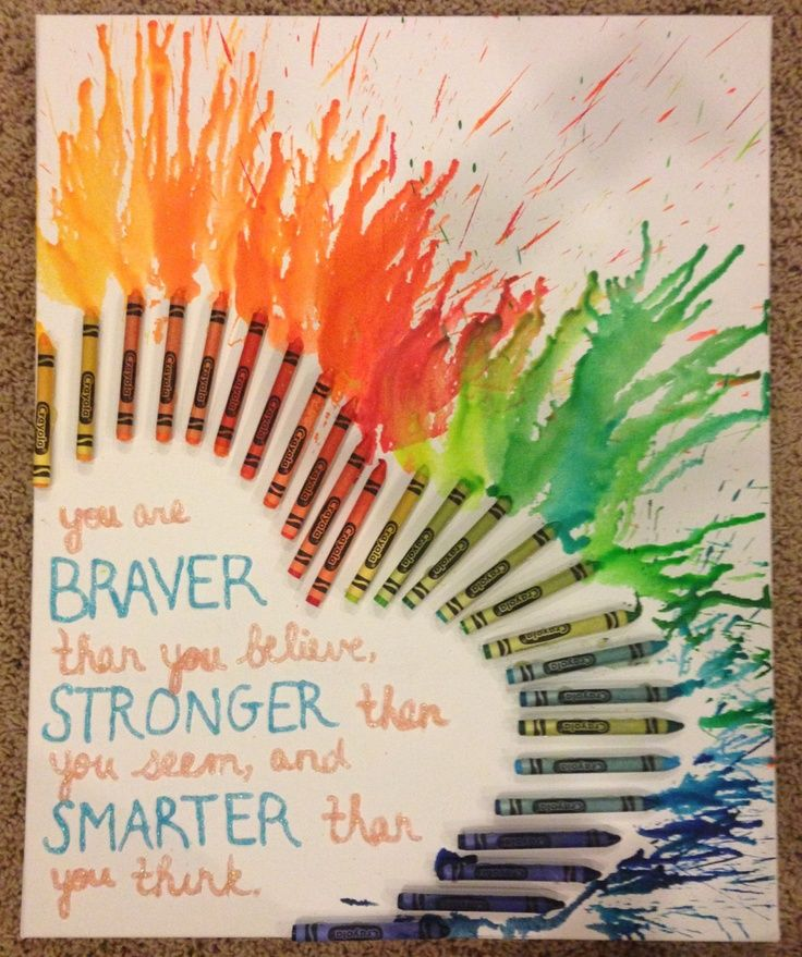 melted crayon art with quotes Google Search Crayon art