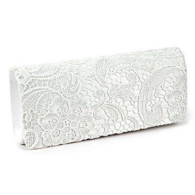 Black White Navy Blue Floral Lace Evening Party Clutch Bag Bridal Wedding Purse White Handbags Amazon Clutch Bag Wedding White Clutch Bags Wedding Handbag