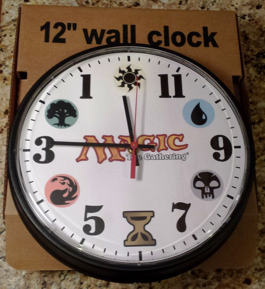 Mtg Wotc Time Spiral Backwards Wall Clock Limited Edition