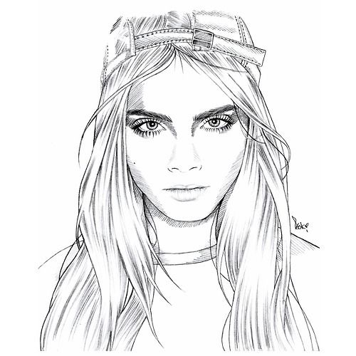 Line Drawing Tumblr Girl : Awesome hipster drawing style images drawings