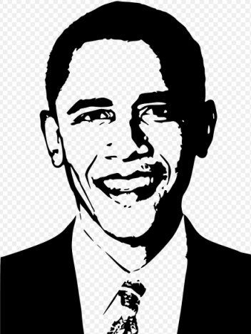 Barack Obama Diminished Reality Illustrationtwoonarow Jpg Black And White Art Drawing Black And White Portraits Obama Portrait