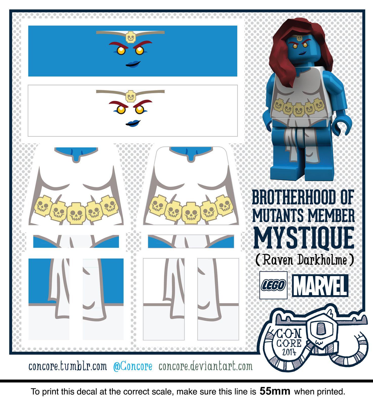 Marvels mystique custom lego minifigure decal flickr photo sharing