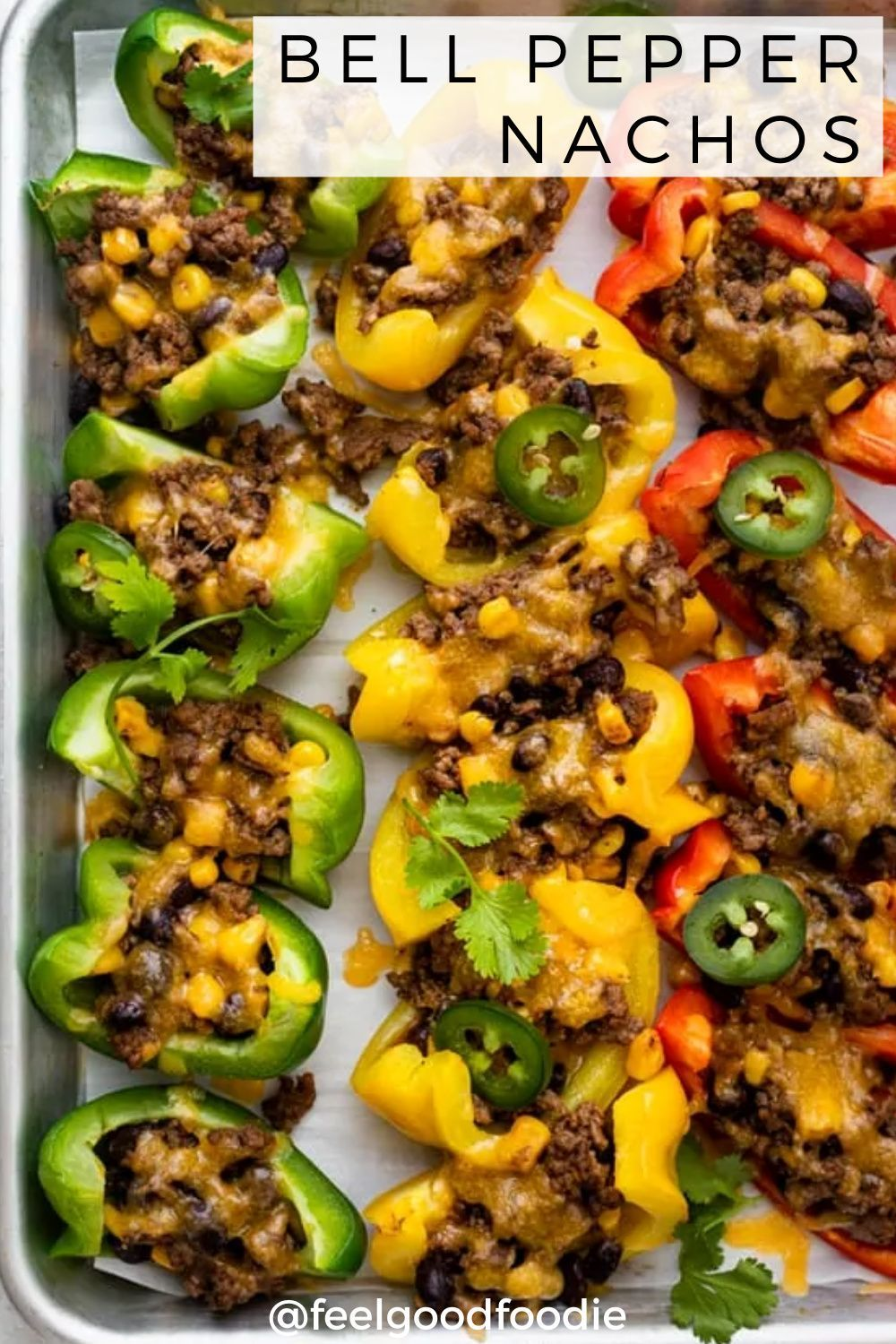 bell pepper nachos in 2020 stuffed peppers recipes mexican food recipes easy pinterest