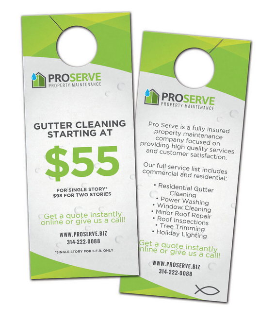 Door Hangers Designed  Printed For Pro Serve Property Management