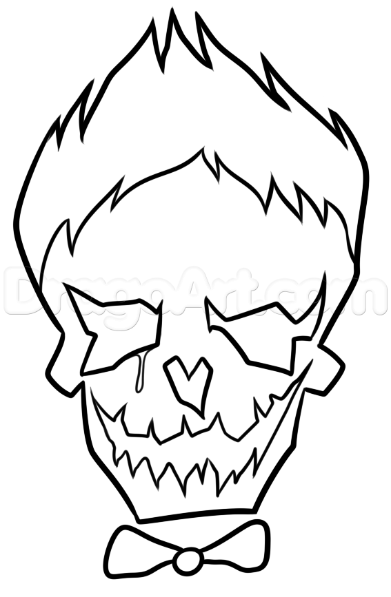 Suicide Squad Joker Skull Coloring cute coloring pages Pinterest