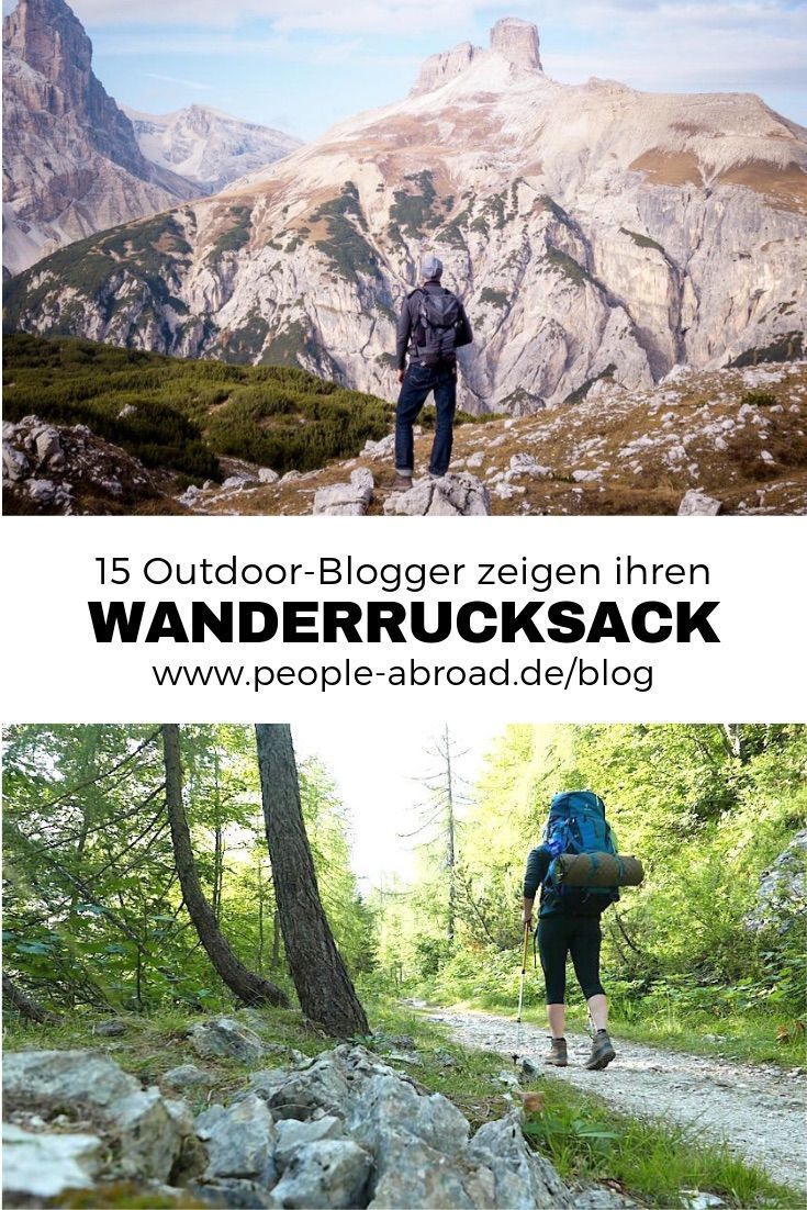 Photo of 15 outdoor bloggers show their hiking backpack