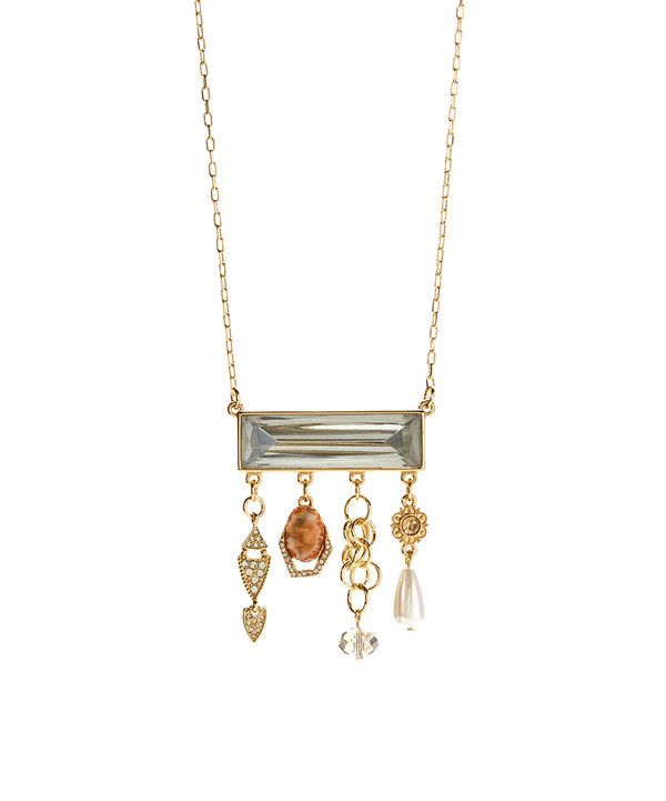 Look at this Clear Bar Pendant Necklace on #zulily today!