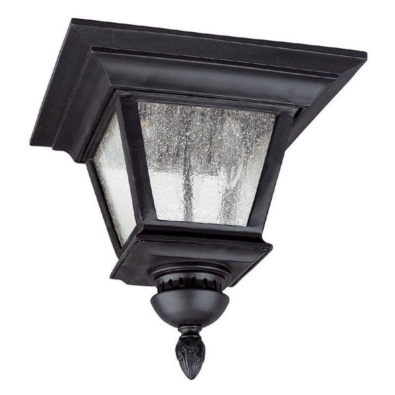 Capital Lighting 9968 Brookwood 3 Light Energy Star Outdoor Flush Mount Ceiling Black