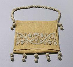 Casalguidi embroidered bag, Italian, c. 1900.