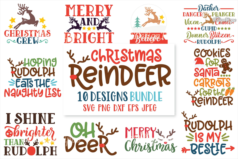 Christmas Reindeer Bundle Christmas reindeer, Reindeer