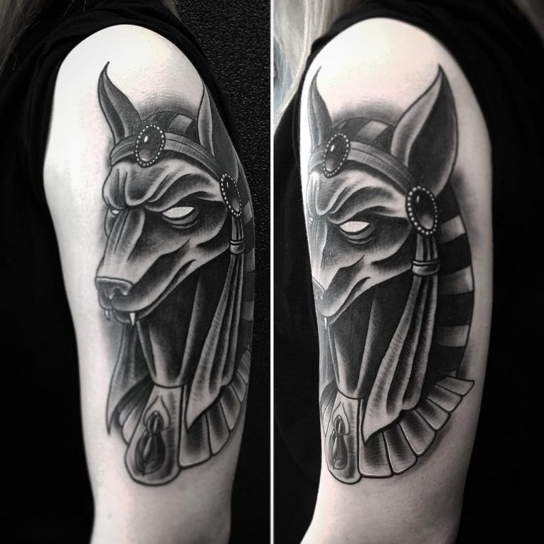 Anubis Tattoo 77 | Anubis | Anubis tattoo, Tattoos, Anubis