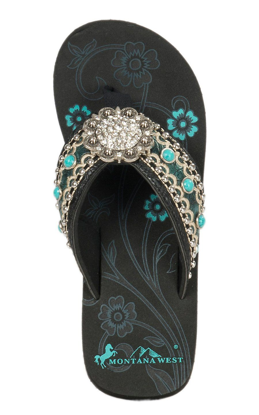 Montana West Womens Turquoise With Cream Embroidered -2883
