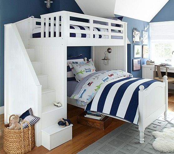 Catalina Stair Loft Bed Bunk Beds With Stairs Cool Bunk