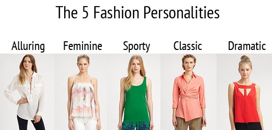 The Five Fashion Personalities