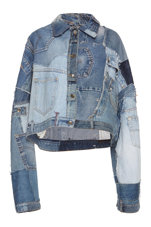 494a1bef6ecf Dolce   Gabbana women s patchwork jean jacket
