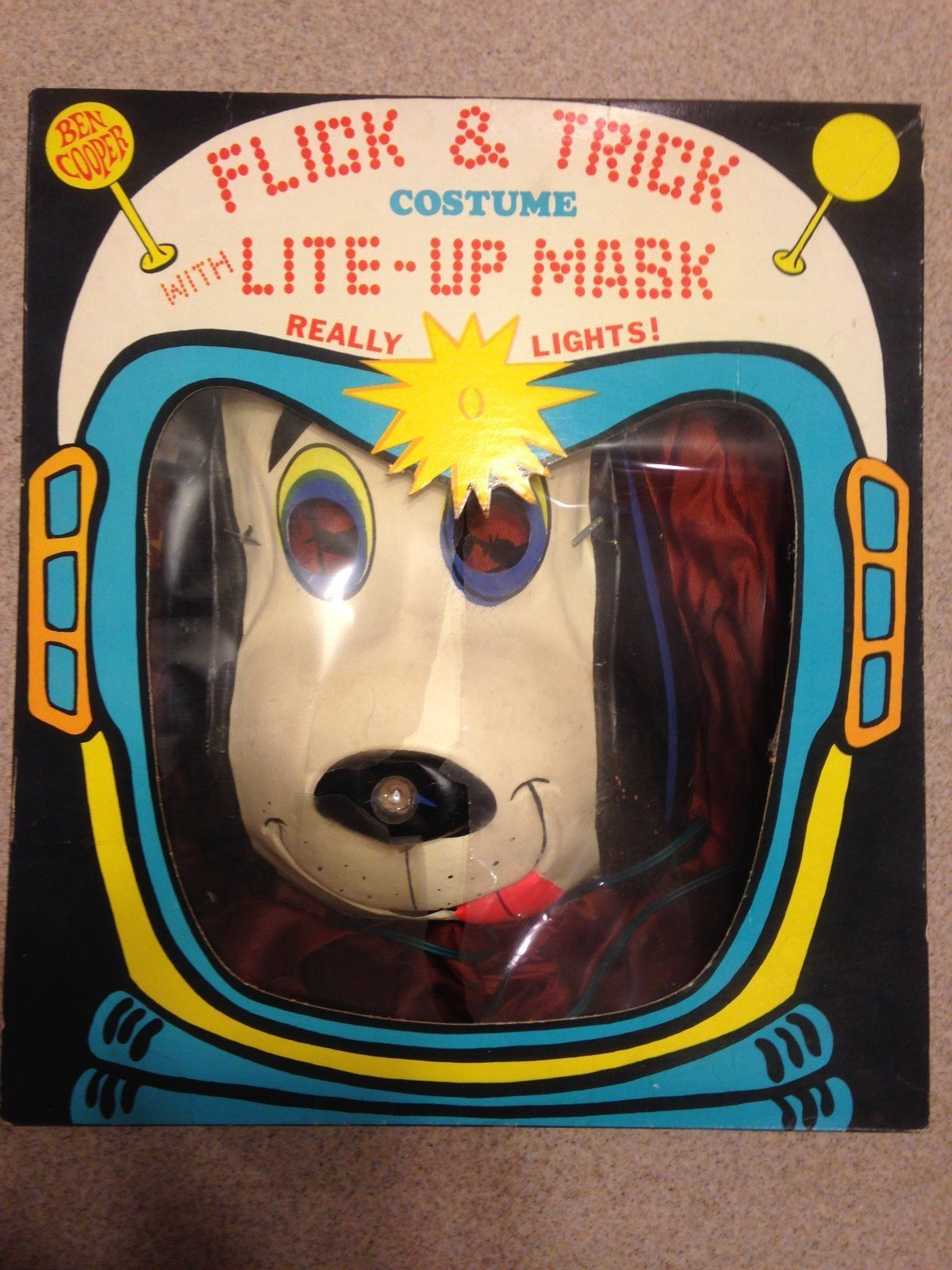 Vintage Halloween Costumes In A Box.Ben Cooper Vintage Halloween Costume Flashy The Pup In Box Lite Up