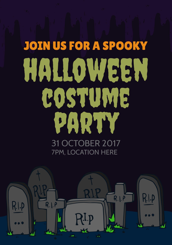 creepy graveyard on an editable and printable halloween costume