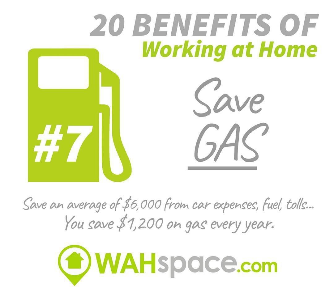 Another great benefit of Working at Home: Saving Gas #savegas #workathome #workfromhome #wahspace #tuesdaytreat