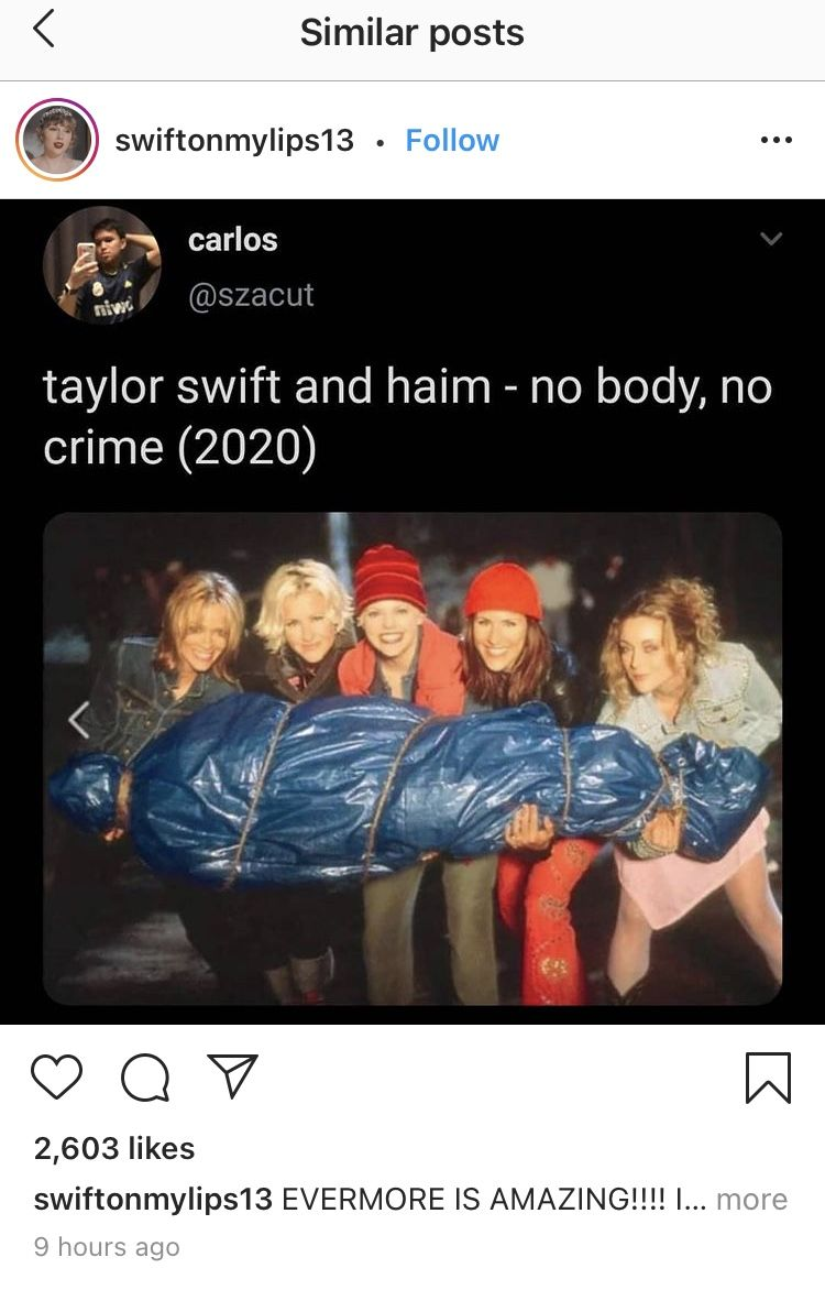 No Body No Crime In 2021 Taylor Swift Lyrics Taylor Swift Fan Club Taylor Swift Meme