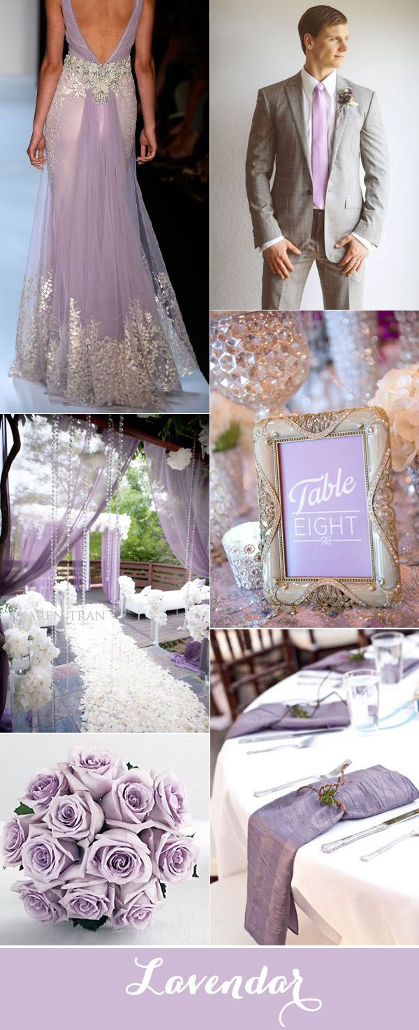 Top 7 Purple And Grey Wedding Color Palettes For 2017 Wedding