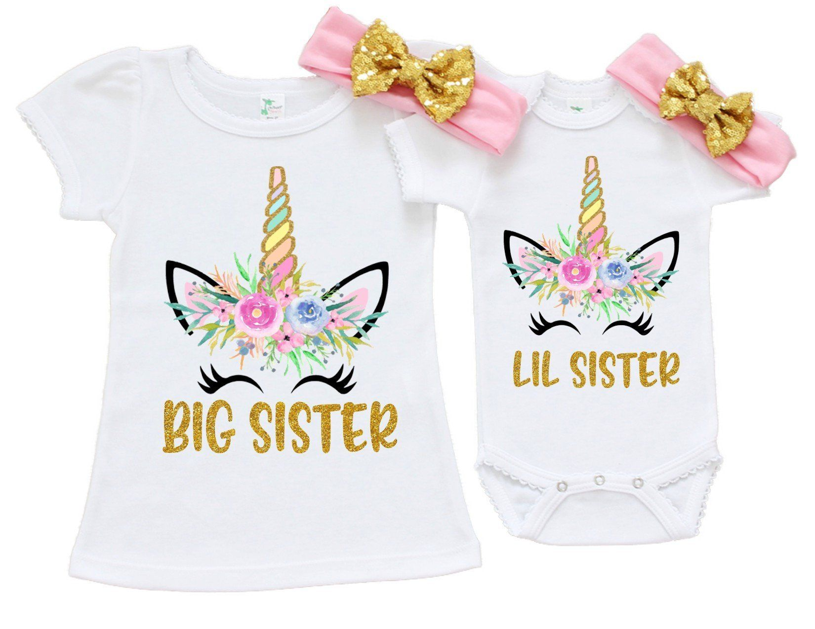 Unicorn Big Sister Little Sister Outfit Unicorn Little Sister Etsy Sister Outfits Big Sister Little Sister Big Sister Shirt