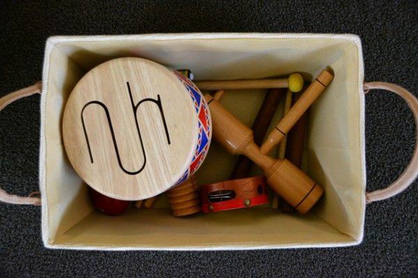 Instruments in basket