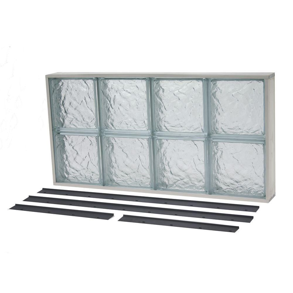 TAFCO WINDOWS 11.875 in. x 27.625 in. NailUp2 Ice Pattern Solid ...