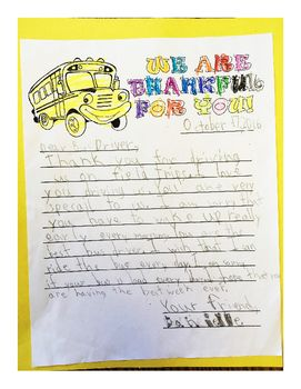 During Bus Driver Appreciation Week My Students And I Talk About All The Reason Why We Are Thankful For Bus Driver Appreciation Bus Driver Appreciation Letter