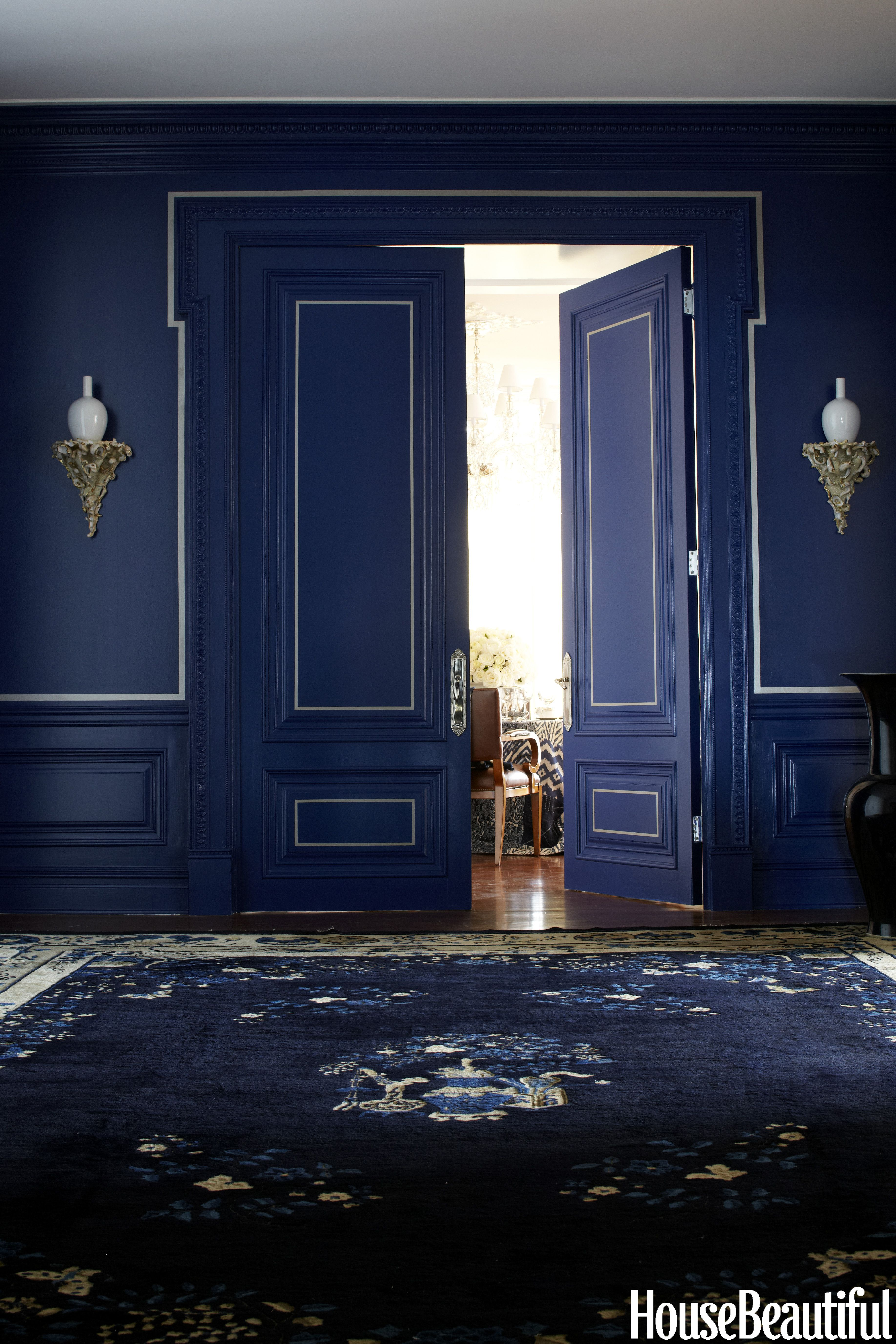 One classic color 3 genius ways to decorate moody blues for Ralph lauren interior paint