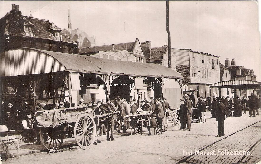 RP Postcard (Polden & Hogben) Fish Market, Folkestone | eBay