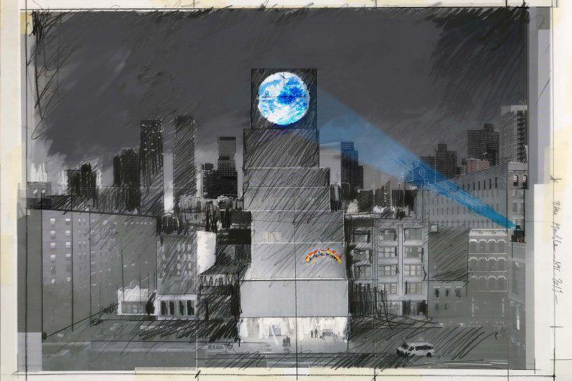 Sebastian Errazuriz Live Streams Earth From Space In 20 Foot Blu Marble Artwork Earth From Space Installation Art Public Art