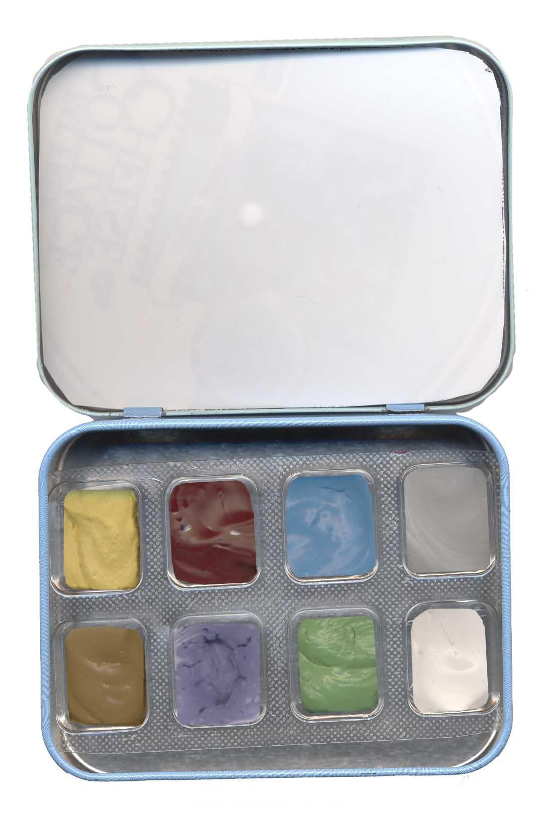 Gouache Pans : gouache, Palette, Supplies, Drawing,, Palette,, Artist's