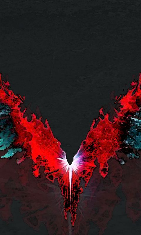 Devil May Cry 5, video game, wings, logo Wallpaper