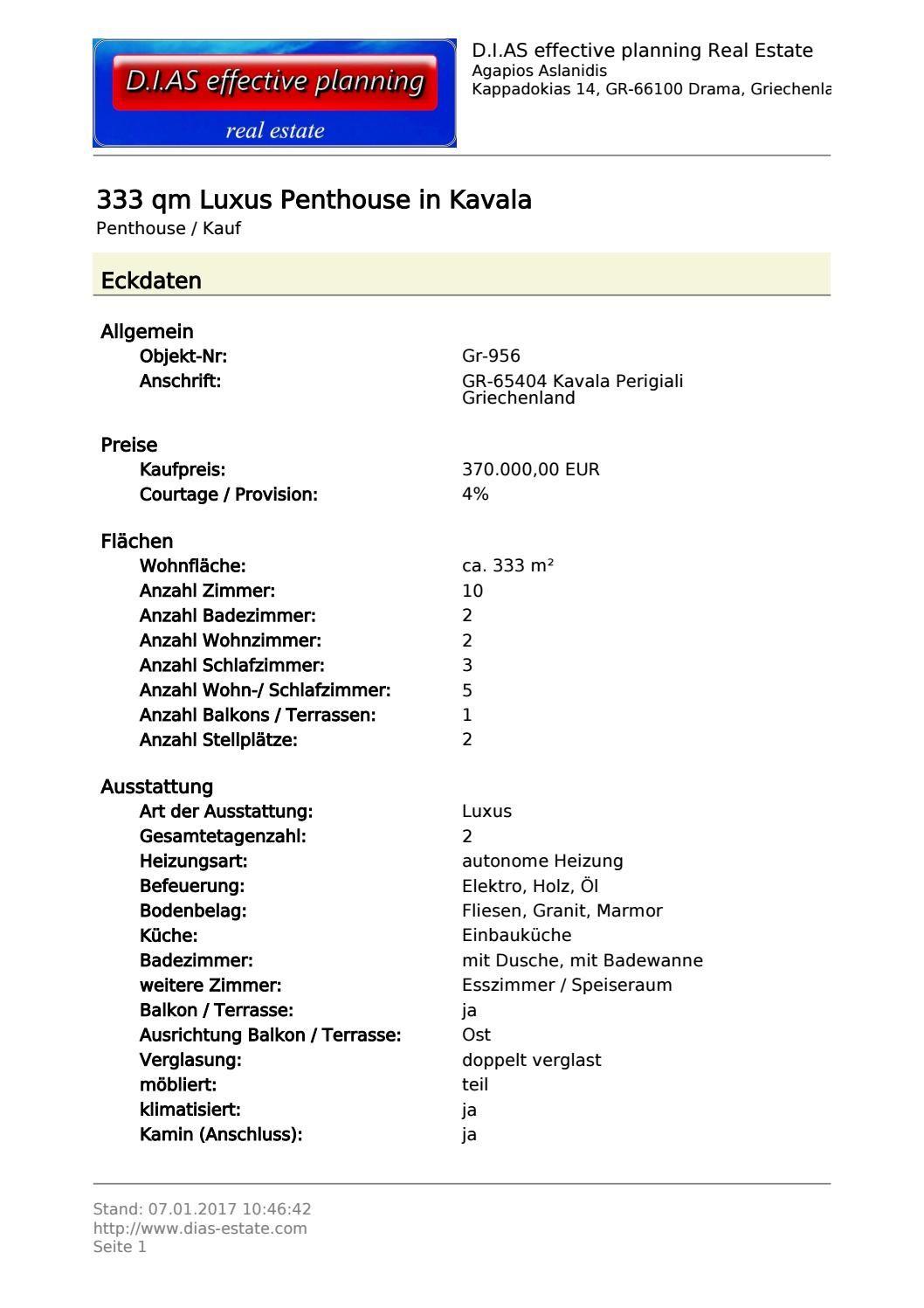Luxus Penthouse Kavala Gr 956