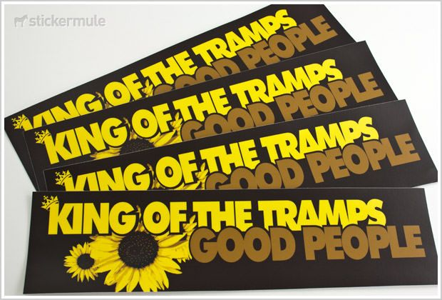 Vinyl bumper stickers are made to display your own message or artwork create full color