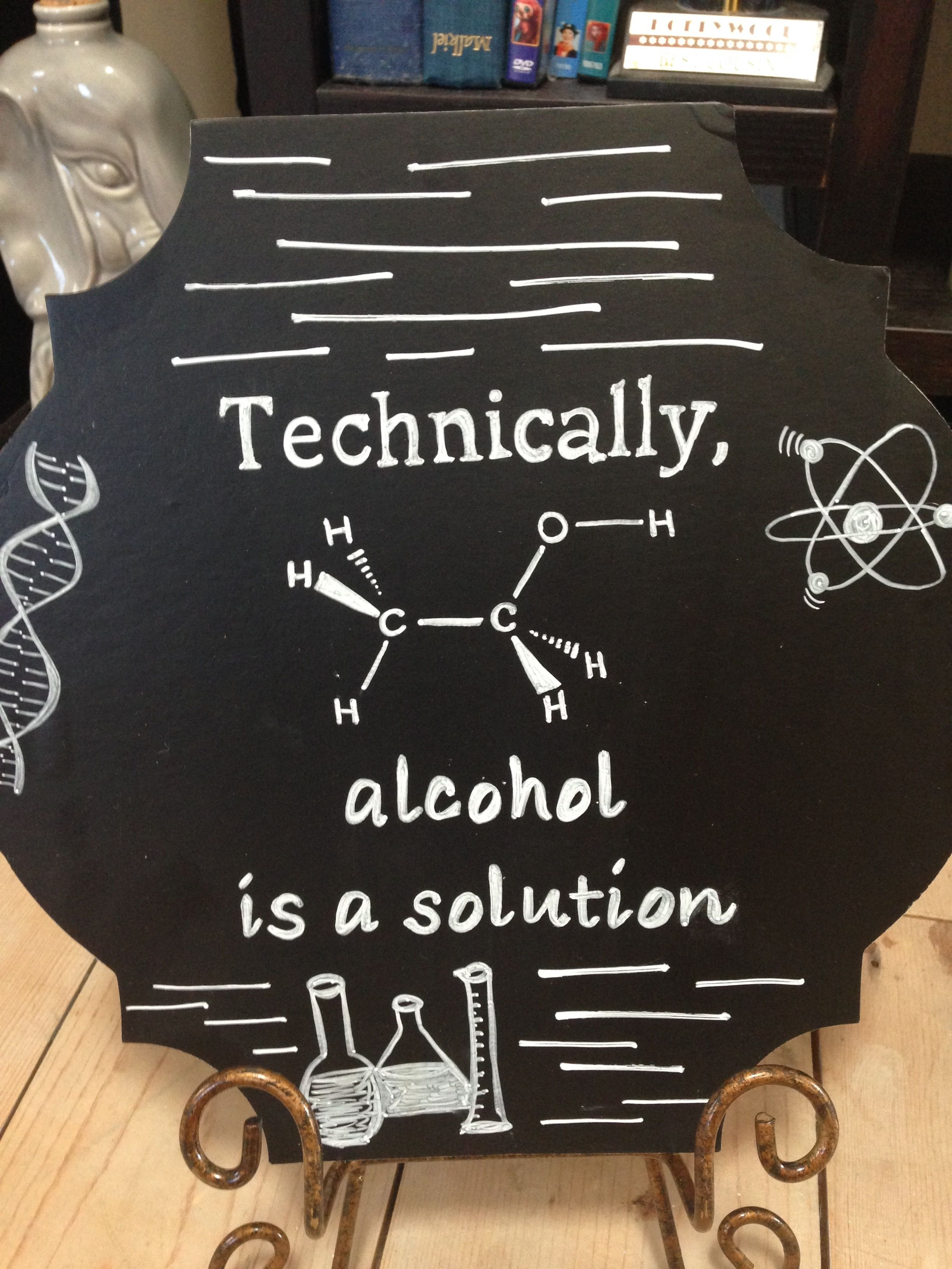 Fun Sign For The Bar At The Wedding Reception Alcohol Chalk Board