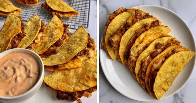 The Best Beef and Cheese Oven Baked Tacos for Meal Prep