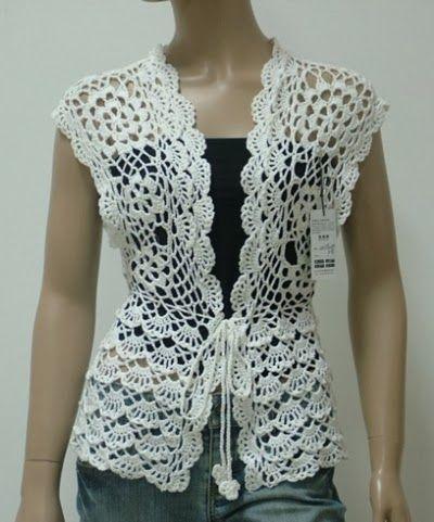 dantel-yelek.jpg (400×481)   crochet   Pinterest