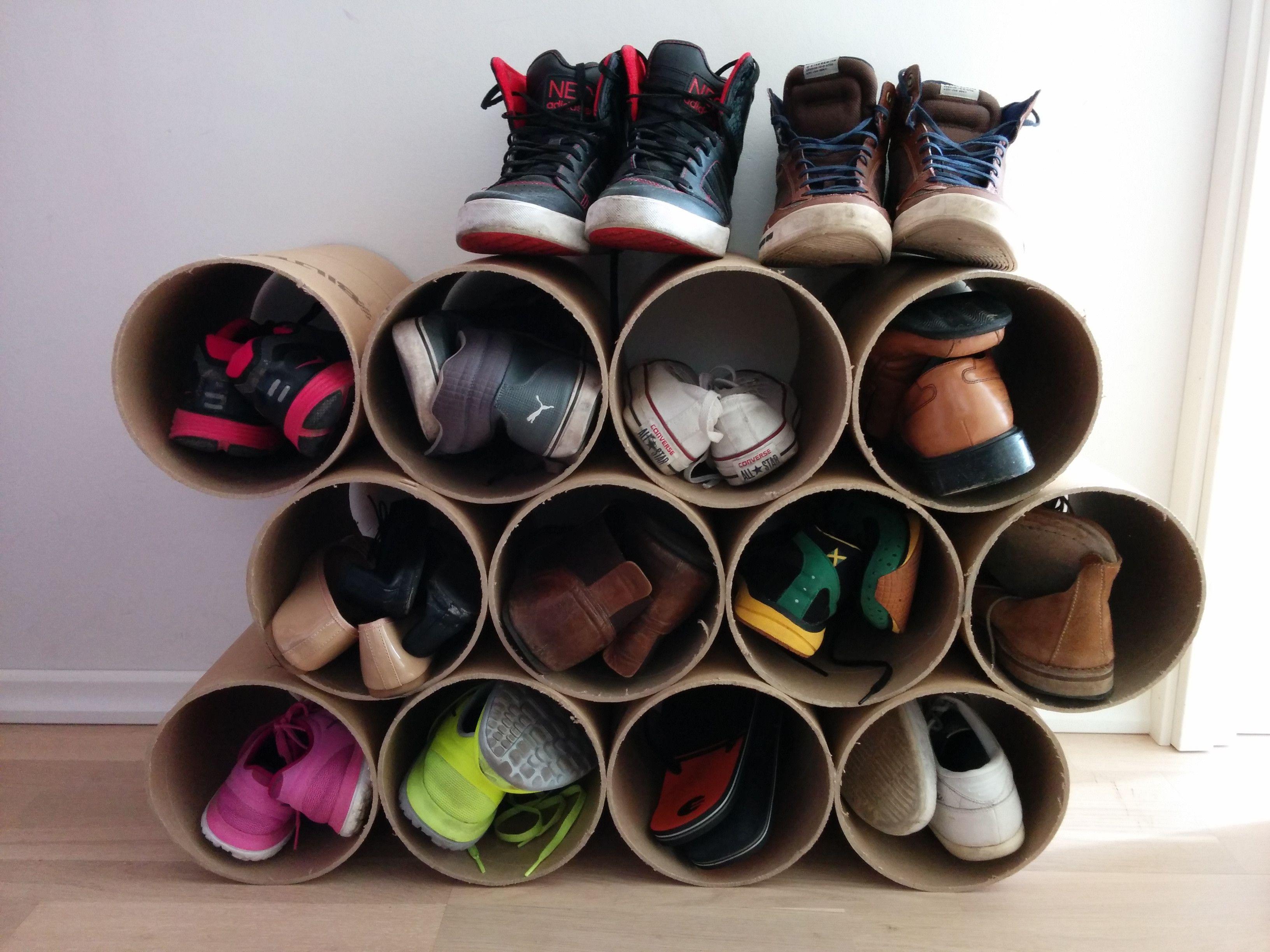 Kết quả hình ảnh cho Cardboard to store shoes