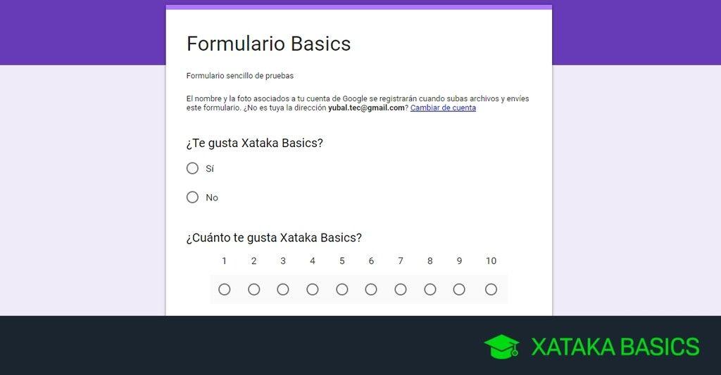Cómo Crear Un Formulario Con Google Forms Xatakabasics Formularios Google Formularios Tipos De Formularios