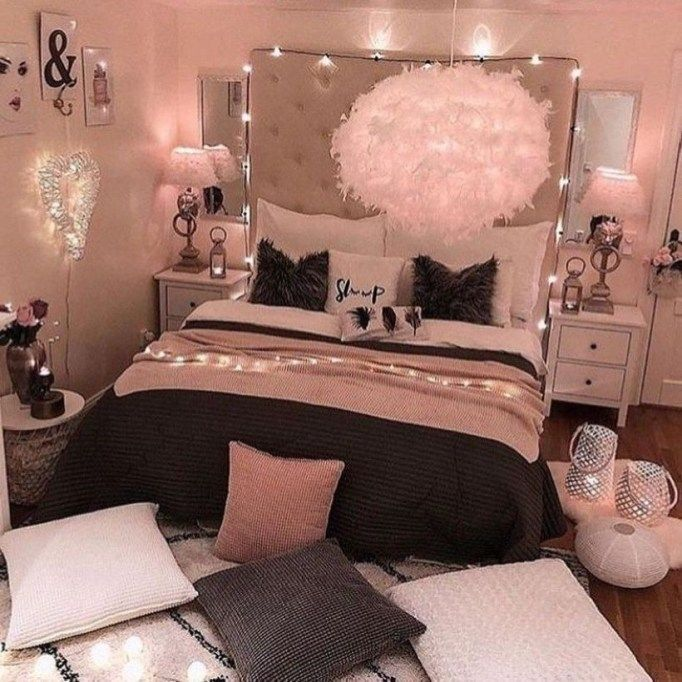 Bedroom Decor Design Ideas Bedroom Tiles Colours Mobile Home Bedroom Decorating Ideas Double Bed Bedroom: Cozy Teen Bedroom Decoration On Pink Style 35