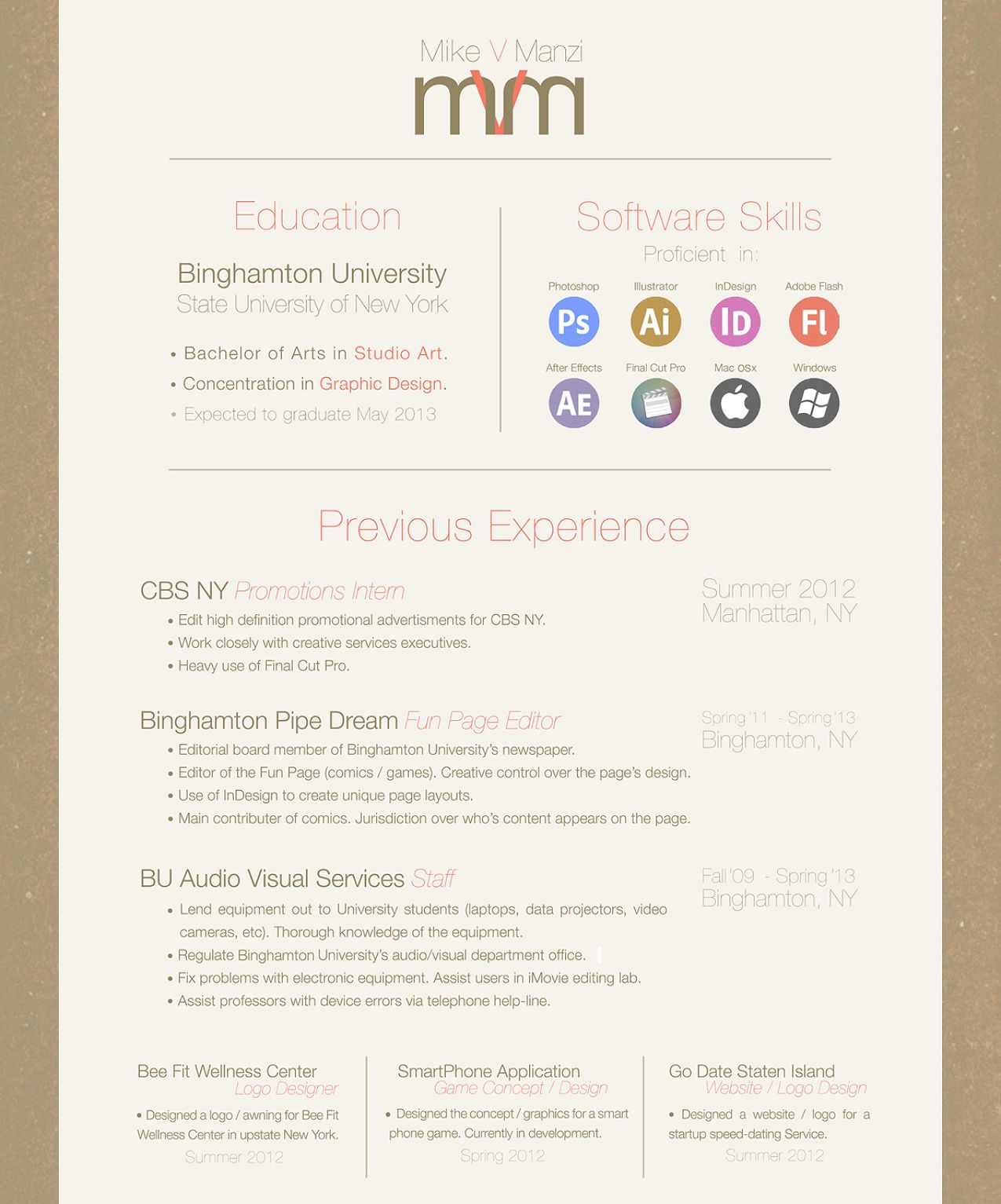 nice and simple resume résumé aesthetics pinterest software