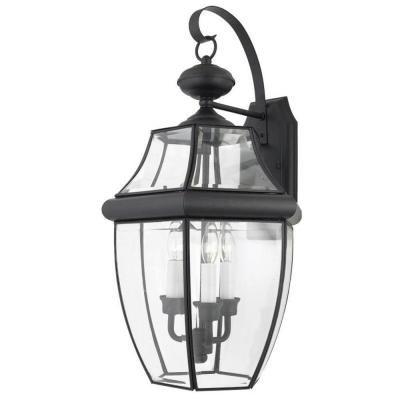 Filament Design Monroe 3 Light Outdoor Mystic Black Incandescent