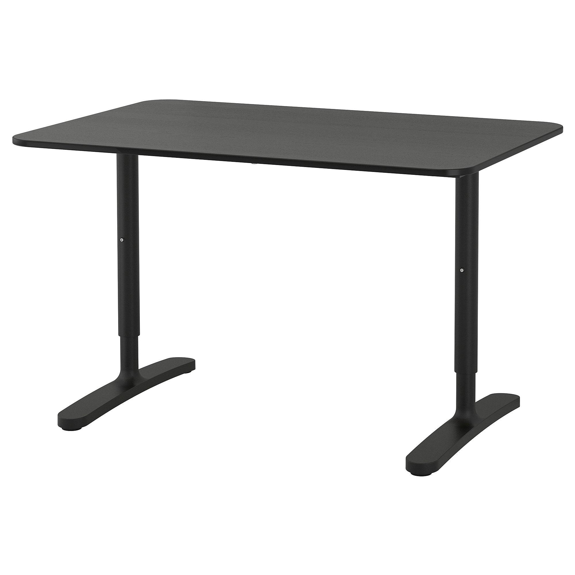 Ikea Bekant Desk Black Stained Ash Veneer Ikea Bekant Ikea Bekant Desk Glass Cabinet Doors