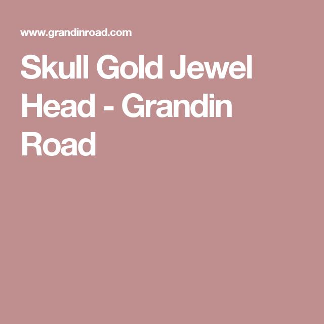 Skull Gold Jewel Head - Grandin Road
