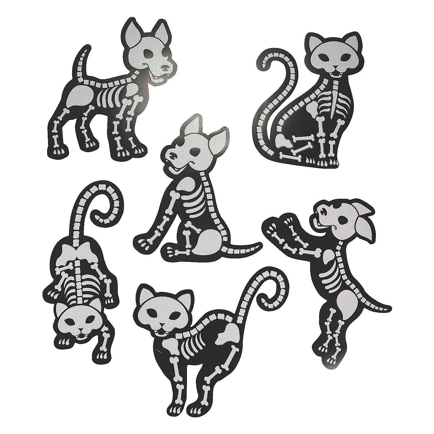 Skeleton Animal Glitter Cutouts With Images