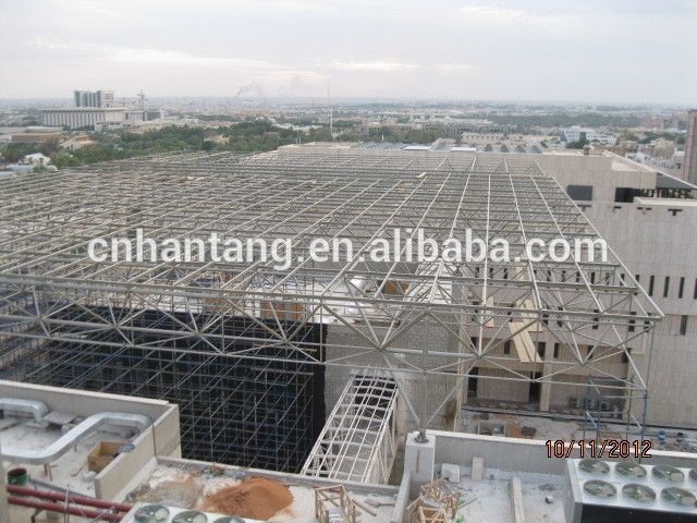 High quality steel space frame roof system structure building in KSA ...