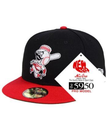 big sale 39635 1a0ac New Era Cincinnati Reds Retro Stock 59FIFTY Fitted Cap - Black Red 7
