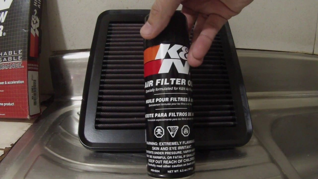 How to Clean a K&N Air Filter Air filter, Filters, Cleaning
