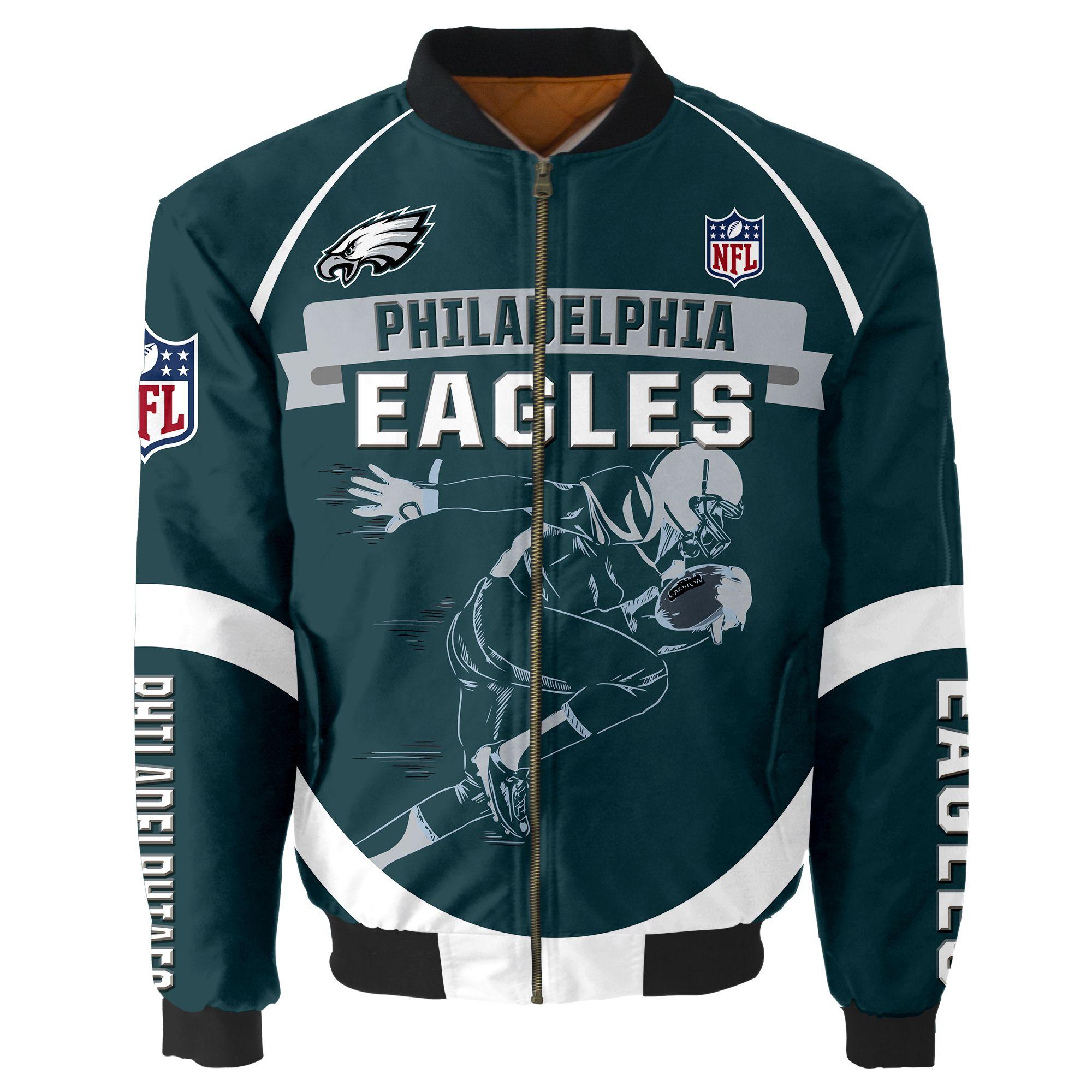 Philadelphia Eagles Bomber Jacket Men Women CottonPadded
